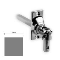 Gelenklager 45° - G022 | Grundplatte 22x52 mm | Kurbelzapfen 9,9 mm | 8 mm Vierkant
