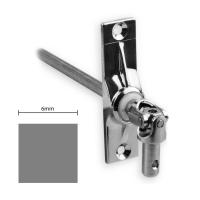 Gelenklager 45° - G023 | Grundplatte 22x85 mm | Kurbelzapfen 9,9 mm | 6 mm Vierkant Ø 9,9 mm