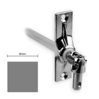 Gelenklager 45° - G024 | Grundplatte 22x85 mm | Kurbelzapfen 9,9 mm | 8 mm Vierkant