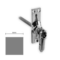 Gelenklager 45° - G028 | Grundplatte 22x85 mm | Kurbelzapfen 11,9 mm | 6 mm Vierkant