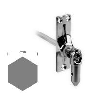 Gelenklager 45° - G031 | Grundplatte 22x85 mm | Kurbelzapfen 11,9 mm | 7 mm Sechskant