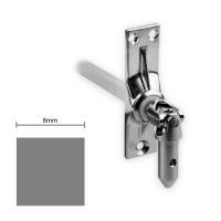 Gelenklager 45° - G032 | Grundplatte 22x85 mm | Kurbelzapfen 11,9 mm | 8 mm Vierkant