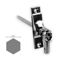 Gelenklager 45° - G039 | Grundplatte 17x73 mm | Kurbelzapfen 9,9 mm | 6 mm Sechskant