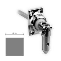 Gelenklager 45° - G050 | Grundplatte 27x45 mm | Kurbelzapfen 11,9 mm | 6 mm Vierkant