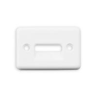 Gurtführung eckig aus Kunststoff | für Gurtband bis 23mm | weiß