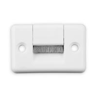 Gurtführung mit Bürste Eckig | für Gurtband bis 23 mm Breite | Kunststoff | weiß