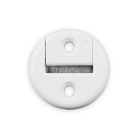 Gurtführung mit Bürste Rund | für Gurtband bis 23 mm Breite | Kunststoff | weiß