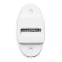 Gurtführung mit Rolle und Bürste | für Gurtband bis 23 mm Breite | Kunststoff | weiß