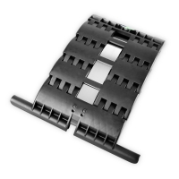 Hochschiebesicherung 3-gliedrig für Maxi-Profile | zum Einclipsen und Anschrauben | für Achtkant Stahlwelle