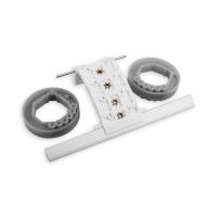 Hochschiebesicherung 3-gliedrig für Mini-Profile | für Achtkant Stahlwelle Ø 40 mm