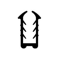 Kantenschutzprofil-Dichtung KS006 | schwarz | 5 lfm