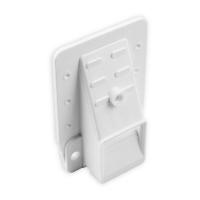 Kasten-Gurtführung 23 mm Ausladung | mit Rand und Loch für Bürste | Kunststoff | weiß
