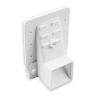Kasten-Gurtführung 35 mm Ausladung | mit Rand und Loch für Bürste | Kunststoff  | weiß