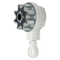 Kegelradgetriebe für Markisen | 3:1 | RAL 9010 | Öse weiss | für 78mm Nutrohr