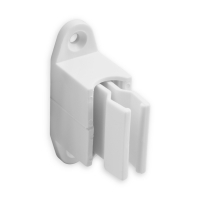 Kurbelhalter | verstellbar | für 12 - 17 mm Kurbeln | Kunststoff | weiß