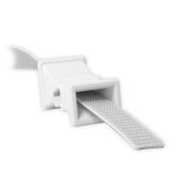 Mauerdurchführung aus Kunststoff | 50mm | gerade | mit Bürste | bis 22mm Gurtbreite