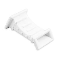 Mauerdurchführung aus Kunststoff | 80mm | gebogen | ohne Bürste | bis 22mm Gurtbreite