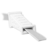 Mauerdurchführung aus Kunststoff | 80mm | gerade | ohne Bürste | bis 22mm Gurtbreite