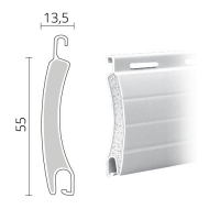 Maxi Rolladen Aluminium | 55 x 13,5 mm | Modell Golf | ausgeschäumt