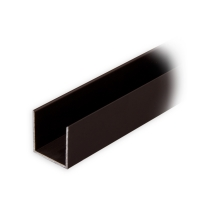 Maxi Aluminium-Führungsschiene | 20 x 19 x 20 mm | dunkelbronze eloxiert