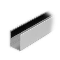 Maxi Aluminium-Führungsschiene | 25 x 19 x 25 mm | beflockt | silber mattiert