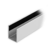 Maxi Aluminium-Führungsschiene | 25 x 19 x 25 mm | beflockt | weiß lackiert