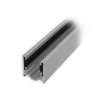 Maxi Aluminium-Führungsschiene | 28 x 27 x 28 mm | mit PVC-Einlage | silber eloxiert