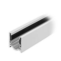Maxi Aluminium-Führungsschiene | 28 x 27 x 28 mm | mit PVC-Einlage | weiß lackiert