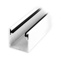 Maxi Aluminium-Führungsschiene | 28 x 28 x 28 mm | mit Neopren-Einlage | weiß lackiert
