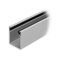 Maxi Aluminium-Führungsschiene | 35 x 28 x 35 mm | mit Neopren-Einlage | silber eloxiert