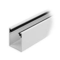 Maxi Aluminium-Führungsschiene | 35 x 28 x 35 mm | mit Neopren-Einlage | weiß lackiert