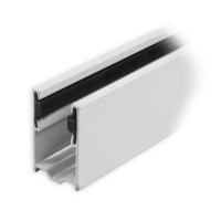 Maxi Aluminium-Führungsschiene | 43 x 27 x 43 mm | mit PVC-Einlage | weiß lackiert