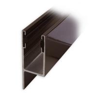 Maxi Aluminium-Führungsschiene | 50 x 27 x 50 mm | mit PVC-Einlage und Lappen | braun lackiert