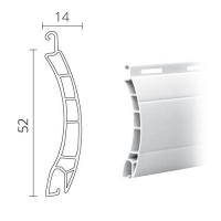 Maxi Kunststoff (PVC) Rolladen / Rolladenpanzer 52 x 14 mm | Modell Berlin