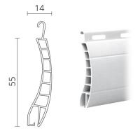 Maxi Kunststoff (PVC) Rolladen / Rolladenpanzer 55 x 14 mm | Modell Aalen