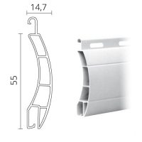 Maxi Kunststoff (PVC) Rolladen / Rolladenpanzer 55 x 14 mm | Modell Ulm