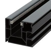Maxi Kunststoff-Rolladen-Führungsschiene 4047 | mit Bürstendichtung | basaltgrau ( ähnlich RAL 7012) | Länge 1400mm