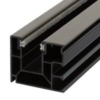 Maxi Kunststoff-Rolladen-Führungsschiene 4047 | mit Bürstendichtung | quarzgrau (ähnlich RAL7039) | Länge 600mm