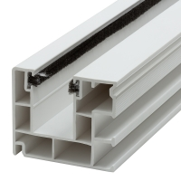 Maxi Kunststoff-Rolladen-Führungsschiene 4047 | mit Bürstendichtung | weiß