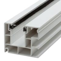 Maxi Kunststoff-Rolladen-Führungsschiene 4047 | mit Bürstendichtung | weiß | Länge 600mm
