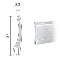 Mini Rolladen Aluminium | 37 x 8,3 mm | Modell Apollo | ausgeschäumt