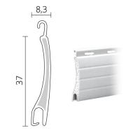 Mini Rolladen Aluminium | 37 x 8,3 mm | Modell Delta | ausgeschäumt