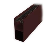 Mini-Aluminium-Führungsschiene (UH) mit Bürstendichtung | 25 x 22 x 25 mm | braun lackiert