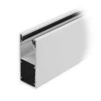Mini-Aluminium-Führungsschiene (UH) mit Neoprendichtung | 25 x 22 x 25 mm | weiss lackiert