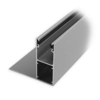 Mini-Aluminium-Führungsschiene (UHL) mit Bürstendichtung | 25 x 22 x 25 mm | silber eloxiert