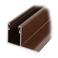 Mini-Aluminium-Führungsschiene (UL) mit Neopren-Einlage | 32x22x50 mm | braun lackiert