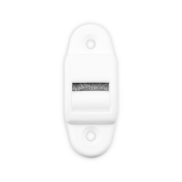 Mini-Gurtführung mit Rolle und Bürste | für Gurtband bis 16 mm Breite | Kunststoff | weiß