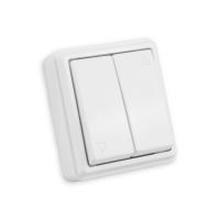 Mini Jalousie Flächentaster | Aufputz | weiß
