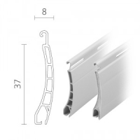 Mini Kombi-Rolladen / Rolladenpanzer Kunststoff (PVC) / Aluminium 37 x 8 mm | Modell Pico / Apollo
