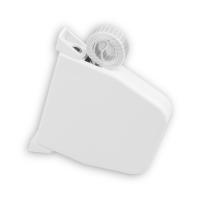 Mini Rolladen-Aufschraub-Gurtwickler | Lochabstand 145 mm | schwenkbar | mit 5m Gurt | weiß